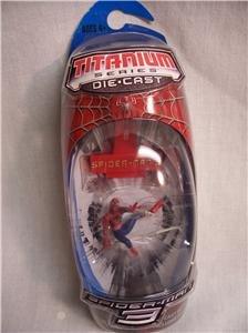 SPIDER-MAN 3 Spider-Man Titanium Series Die-Cast Figure
