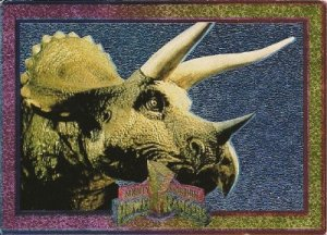 MIGHTY MORPHIN Power Rangers Card #11 Triceratops Dinos