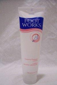 AVON Foot Works Creamy Powder Lotion, 3.4 fl oz