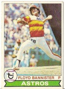 """FLOYD BANNISTER """"Houston Astros"""" 1979 #306 Topps Baseball Card"""