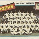 """DETROIT TIGERS"" Team Checklist 1980 #626 Topps Baseball Card"