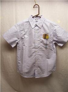 OLD NAVY~Boys Oxford S/S Shirt~SkyBlue~Size S (6-7)~NWT