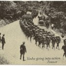 WORLD WAR l Post Card Of Yanks Going Into Action France