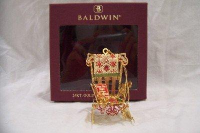 BALDWIN 24KT Gold Finish Brass Santa's Chair, New Item