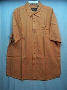 RUFF HEWN~Mens S/S Shirt~ Orange~Size: Large~MSRP $38~NEW ITEM
