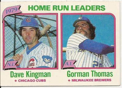 1979 National League/American League HOME RUN LEADERS  #202 Topps Baseball Card