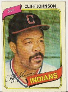 "CLIFF JOHNSON ""Cleveland Indians"" 1980 #612 Topps Baseball Card"