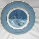 "1976 AVON Christmas Third Plate Series ""Bringing Home The Tree"""