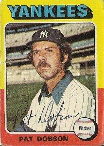 "PAT DOBSON ""New York Yankees"" 1975 #44 Topps Baseball Card"