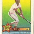 "ERIC DAVIS ""Cincinnati Reds"" 1989 #47 Super Star Topps Baseball Card"
