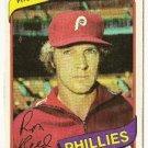 "RON REED ""Philadelphia Phillies"" 1980 #609 Topps Baseball Card"
