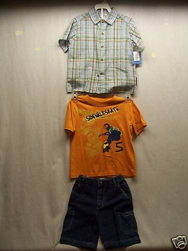 BUSTER BROWN Boy's Short/Shirts Set, Size: 4T, NWT