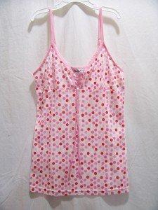 VANITY FAIR Women's Polka-Dot Spaghetti Top, Size: Medium,NWT