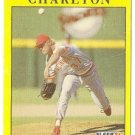 "NORM CHARLTON ""Cincinnati Reds"" 1991 #60 Fleer Baseball Card"