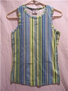 COLUMBIA Girls Youth Large Multi-Striped Tank Top, NWT