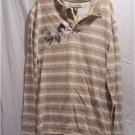BFL JEANS Men's L/S Graphic Beige Shirt, Size: X-Large, NWT