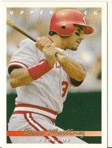 "DAVE MARTINEZ ""Cincinnati Reds"" 1993 #400 Upper Deck Baseball Card"