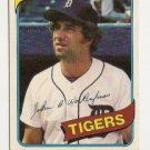 JOHNNY WOCKENFUSS &quot;Detroit Tigers&quot;1980 #338 Topps Baseball Card