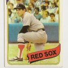 "BOB MONTGOMERY ""Boston Red Sox"" 1980 #618 Topps Baseball Card"