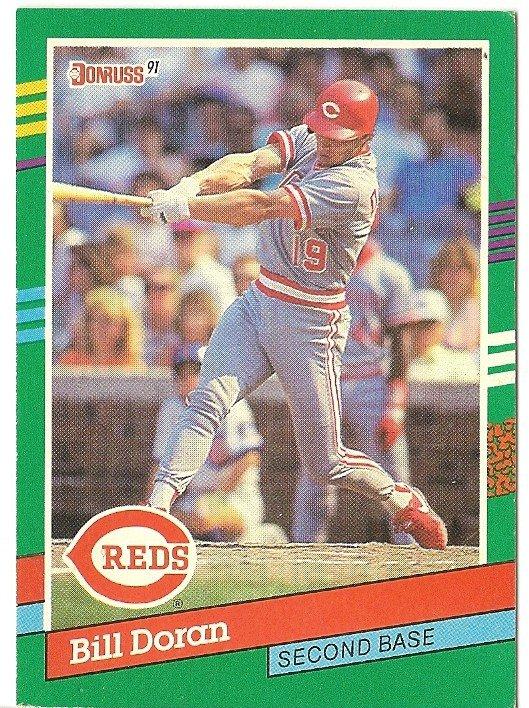 "BILL DORAN ""Cincinnati Reds"" 1991 #756 Donruss Baseball Card"
