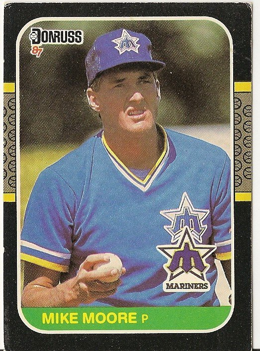 "MIKE MOORE ""Seattle Mariners"" 1987 #70 Donruss Baseball Card"