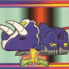 MIGHTY MORPHIN Power Rangers Card #65 Triceratops Dinoz