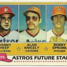 1981 HOUSTON ASTROS FUTURE STARS #82 Topps Baseball Card