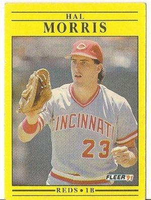 "HAL MORRIS ""Cincinnati Reds"" 1991 #72 Fleer Baseball Card"