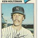 "KEN HOLTZMAN ""New York Yankees"" 1977 #625 Topps Baseball Card"