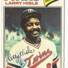 "LARRY HISLE ""Minnesota Twins"" 1977 #375 Topps Baseball Card"