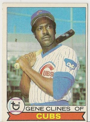 "GENE CLINES ""Chicago Cubs"" 1979 #171 Topps Baseball Card"
