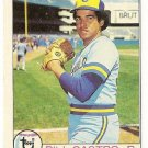 "BILL CASTRO ""Milwaukee Brewers"" 1979 #133 Topps Baseball Card"