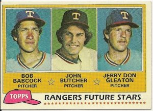 "1981 ""TEXAS RANGERS"" FUTURE STARS #41 Topps Baseball Card"