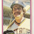 "CHAMP SUMMERS ""Detroit Tigers"" 1981 #27 Topps Baseball Card"
