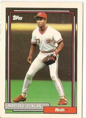 "MARIANO DUNCAN ""Cincinnati Reds"" 1992 #589 Topps Baseball Card"