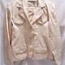 CLASSIC BLUES Collection Women's 100% Cotton Beige Blazer, Size Small, NWT