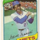 "ELLIOTT MADDOX ""New York Mets"" 1980 #707 Topps Baseball Card"