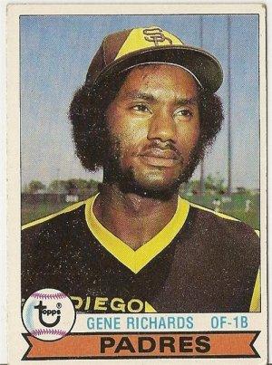 "GENE RICHARDS ""San Diego Padres"" 1979 #364 Topps Baseball Card"