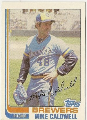 "MIKE CALDWELL ""Milwaukee Brewers"" 1982 #378 Topps Baseball Card"