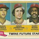 "1981 ""MINNESOTA TWINS"" FUTURE STARS #328 Topps Baseball Card"