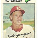 "JOEL YOUNGBLOOD ""Cincinnati Reds"" 1977 #548 Topps Baseball Card"