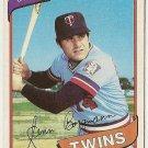 "GLENN BORGMANN ""Minnesota Twins"" 1980 #634 Topps Baseball Card"