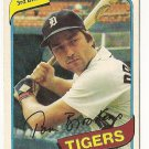 "TOM BROOKENS ""Detroit Tigers"" 1980 #416 Topps Baseball Card"