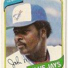 "JOHN MAYBERRY ""Toronto Blue Jays"" 1980 #643 Topps Baseball Card"
