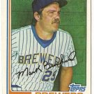 "MARK BROUHARD ""Milwaukee Brewers"" 1982 #517 Topps Baseball Card"