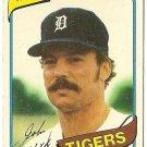 """JOHN HILLER """"Detroit Tigers"""" 1980 #614 Topps Baseball Card"""
