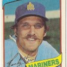 "RANDY STEIN ""Seattle Mariners"" 1980 #613 Topps Baseball Card"