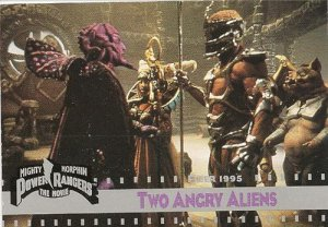 MIGHTY MORPHIN Power Rangers Fleer 1995 Card #50 Two Angry Aliens
