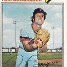 "TOM BURGMEIER ""Minnesota Twins"" 1977 #398 Topps Baseball Card"