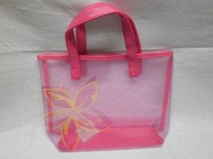 AVON Yellow Flowered Pink Bag, Item #F3108181 (New Item)